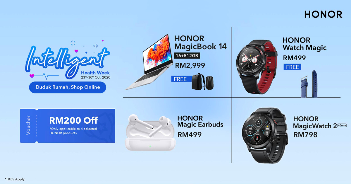 Enjoy Deals And Vouchers Up To RM200 With HONOR Intelligent Health Week Sale 26