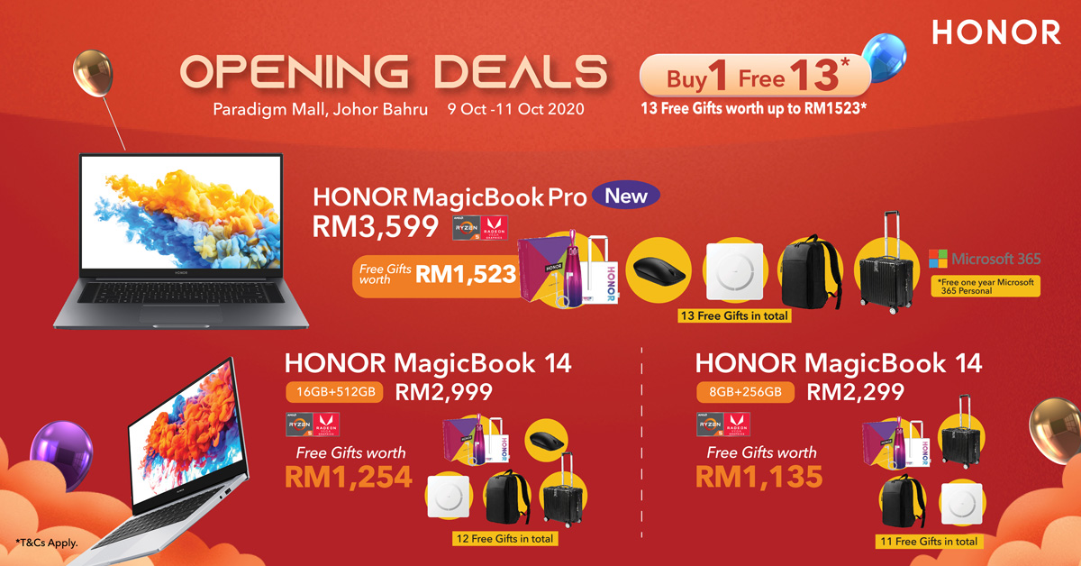 HONOR Malaysia Offers Buy 1-Free 10 Deals To Celebrate 10.10 28