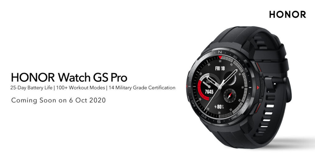 HONOR MagicBook Pro And HONOR Watch GS Pro Arriving This 6 October 20