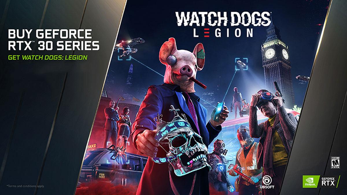 NVIDIA GeForce RTX 30 series watch dogs bundle