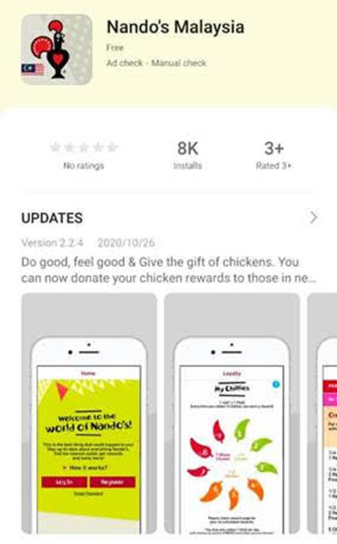 Nando's Malaysia App Now Available On HUAWEI AppGallery 22