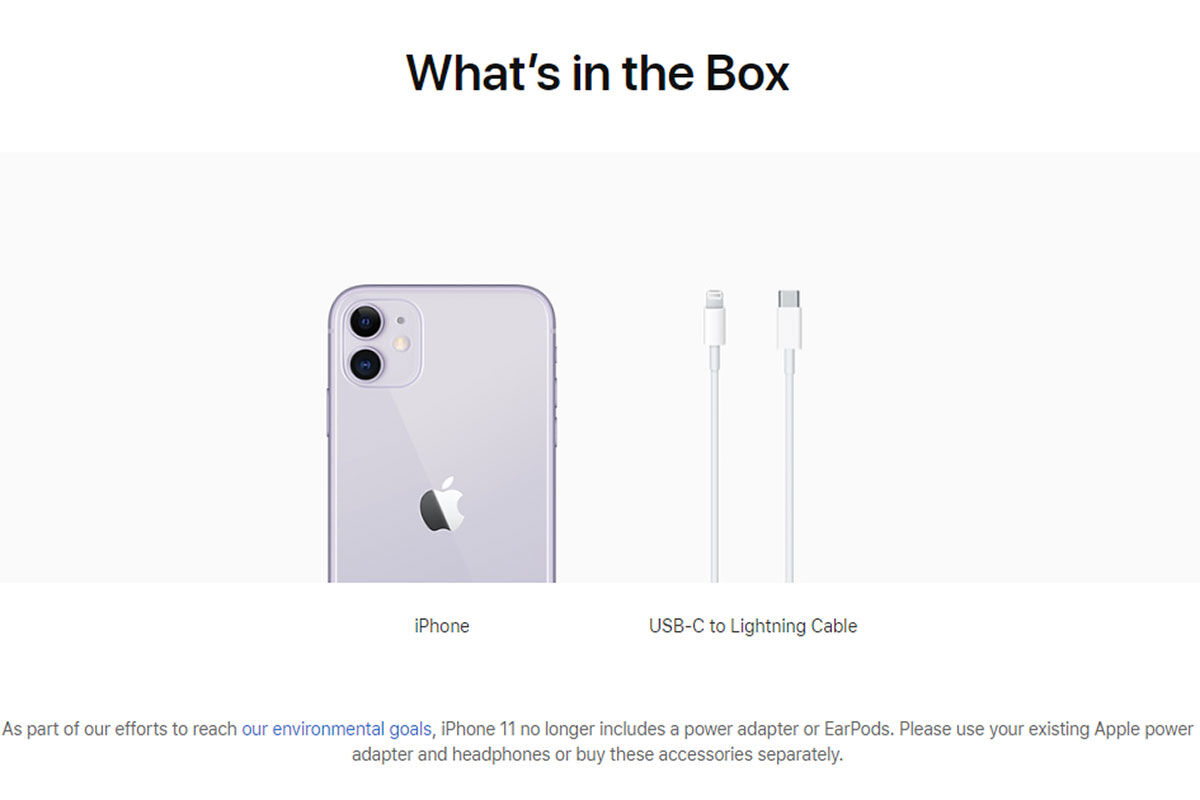 iPhone 11 what's in the box