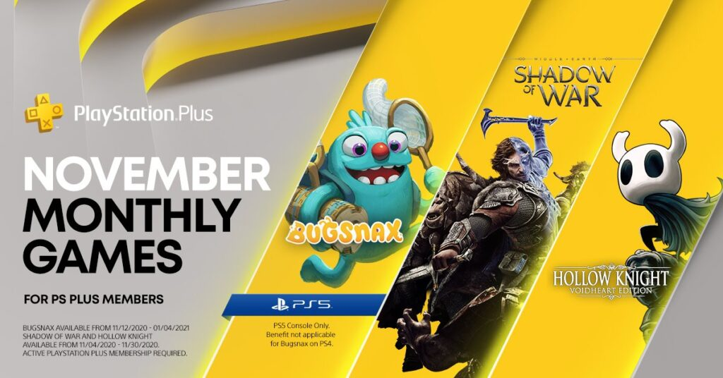 PS Plus Asia November 2020 FREE Games Lineup